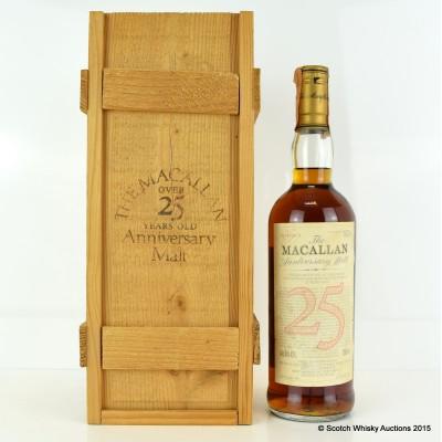 Macallan Over 25 Year Old Anniversary Malt 1965 75cl