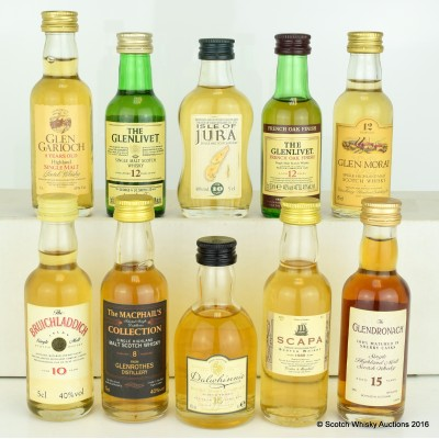 Assorted Minis 10 x 5cl Including GlenDronach 15 Year Old 5cl