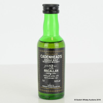 Cadenhead's Macallan 12 Year Old Mini 5cl