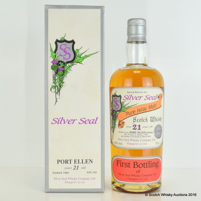 Port Ellen 1980 21 Year Old Silver Seal First Bottling