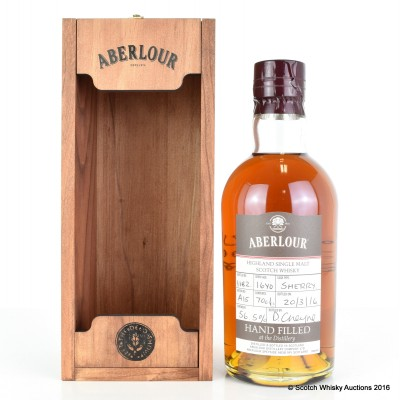 Aberlour Hand Filled 16 Year Old Sherry Cask