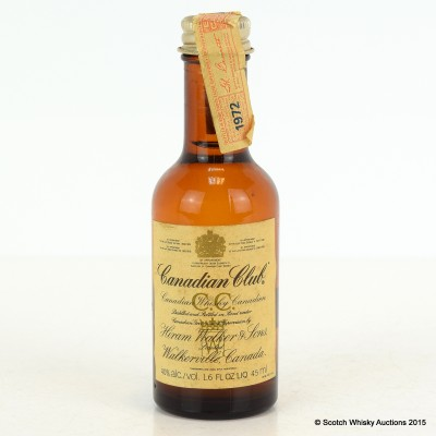 Canadian Club 1972 Mini 1.6 Fl Oz