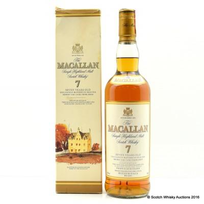 Macallan 7 Year Old Maxxium Italian Import