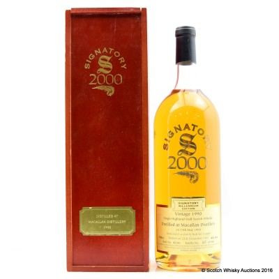 Macallan 1990 9 Year Old Signatory 1.5L