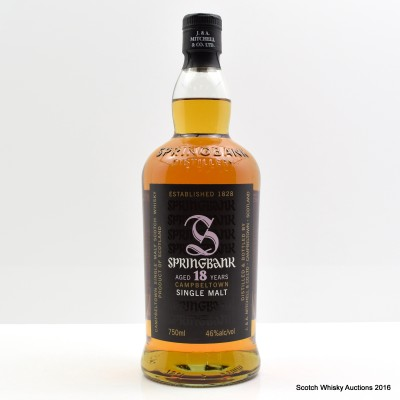 Springbank 18 Year Old 75cl