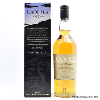 Caol Ila Unpeated 17 Year Old 2015 Release