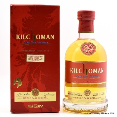 Kilchoman Single Bourbon Cask For The Distillery Shop