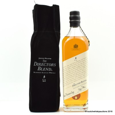 Johnnie Walker The Directors Blend 2012 Release with Letter of Authenticity