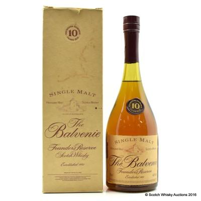 Balvenie Founder's Reserve 10 Year Old Cognac Bottle 75cl