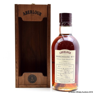 Aberlour Warehouse No 1 Single Sherry Cask Selection 1995 16 Year Old