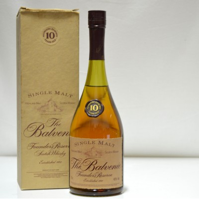 Balvenie Founder's Reserve 10 Year Old Cognac Bottle