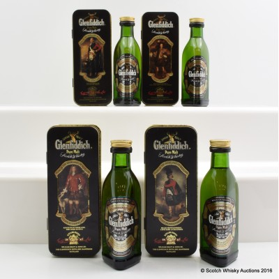 Glenfiddich Clans Of The Highlands Collection Minis 4 x 5cl