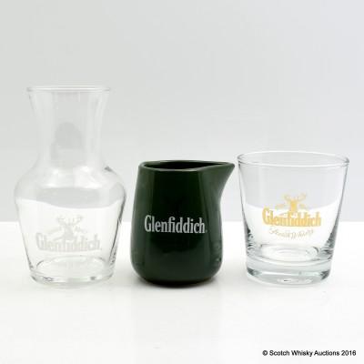 Glenfiddich Branded Water Jug, Glass Water Jug & Glass