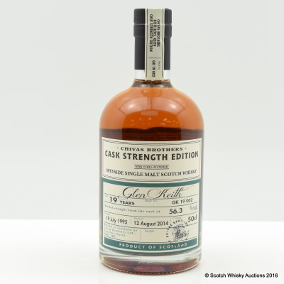 Chivas Brothers Glen Keith 1995 19 Year Old 50cl