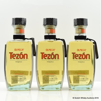 Olmeca Tezon Resposado Tequila x 3