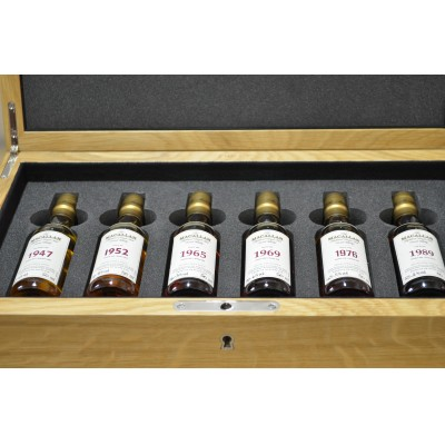 Macallan Fine And Rare Miniatures In Linley Box