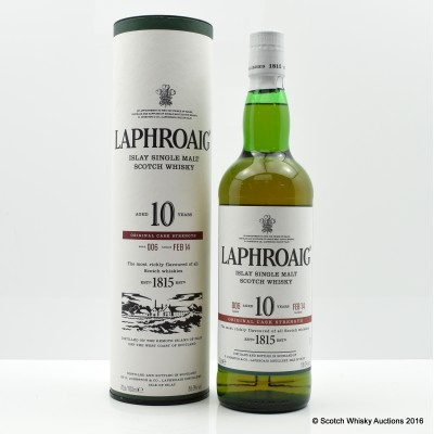 Laphroaig Cask Strength 10 Year Old Batch #6