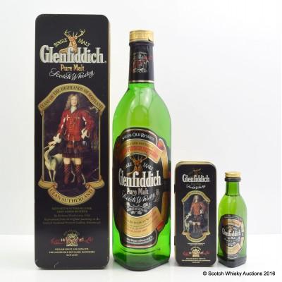 Glenfiddich Pure Malt Clan Sutherland & Matching 5cl Mini
