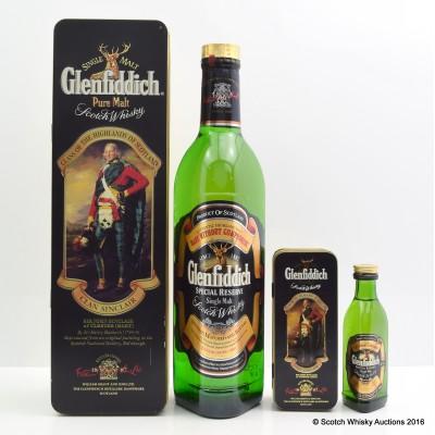Glenfiddich Pure Malt Clan Sinclair & Matching 5cl Mini