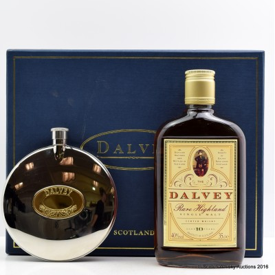 Dalvey 10 Year Old 35cl & Hip Flask Gift Set