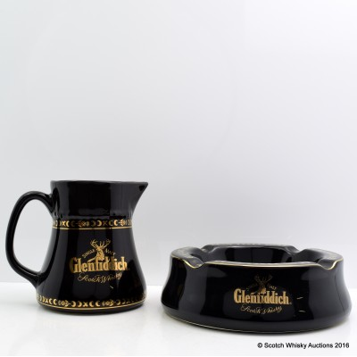 Glenfiddich Ashtray & Water Jug