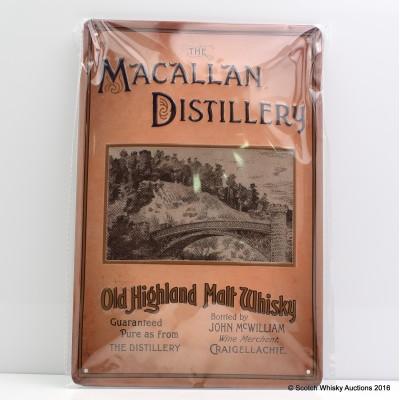 Macallan Metal Plaque