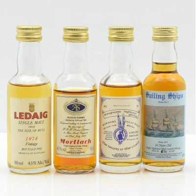 Assorted Minis x 4 Including Mortlach 1959/60 Royal Wedding Andrew and Sarah Mini 5cl