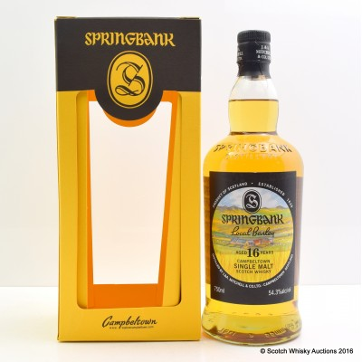 Springbank 16 Year Old Local Barley 75cl