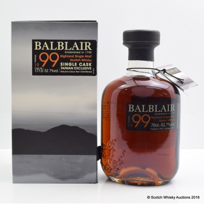 Balblair 1999 Single Cask Taiwan Exclusive