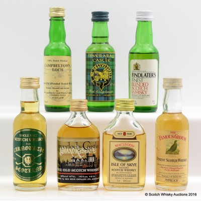 Assorted Minis 7 x 5cl Including Campbeltown Loch 5cl