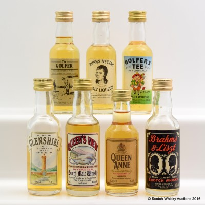 Assorted Minis 7 x 5cl Including Queen Anne Mini 5cl