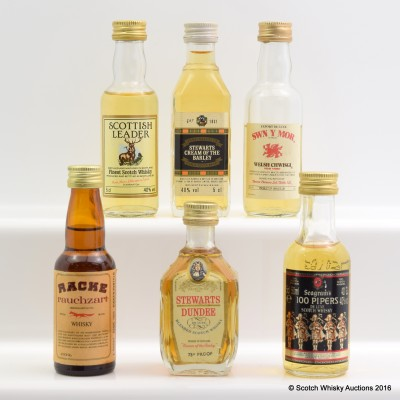 Assorted Minis 6 x 5cl Including Scottish Leader 5cl