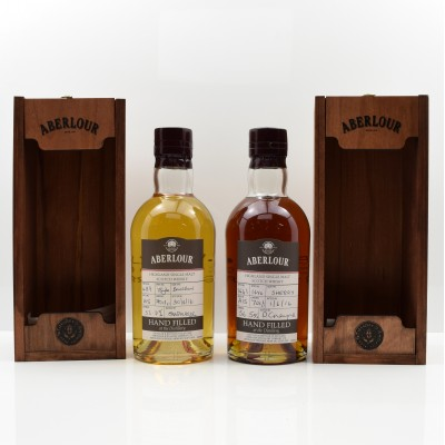Aberlour Distillery Only Hand Filled Bourbon Cask 15 Year Old & Aberlour Distillery Only Hand Filled Sherry Cask 16 Year Old