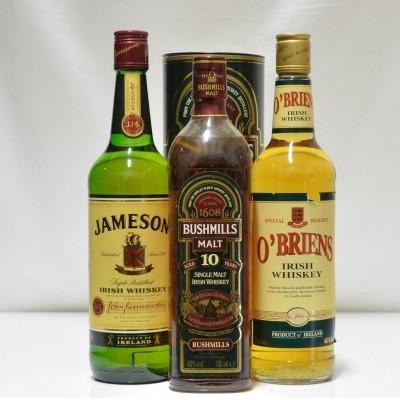 Jameson, Bushmills & O'Briens