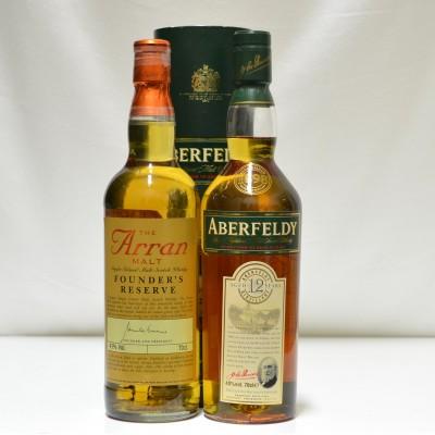 Aberfeldy 12 Year Old & Arran Founders Reserve