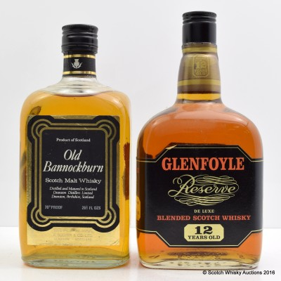Glenfoyle Reserve 12 Year Old 26 2/3 Fl Oz & Old Bannockburn 26 2/3 Fl Oz