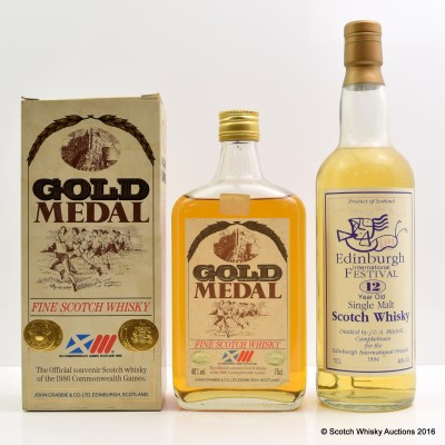 Edinburgh Festival 1994 12 Year Old & Gold Medal 1986 Commonwealth Games 75cl