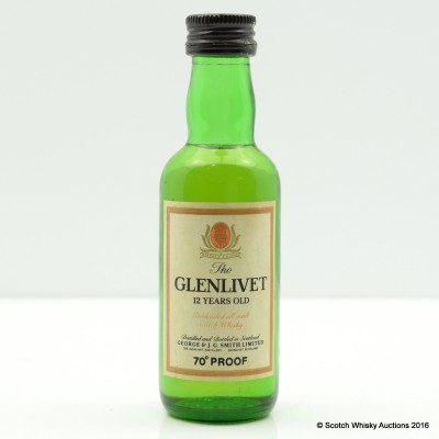 Glenlivet 12 Year Old 70° Proof Mini 5cl