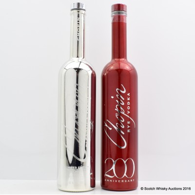 Chopin Blended Vodka Silver Limited Edition & Chopin Rye Vodka 200th Anniversary