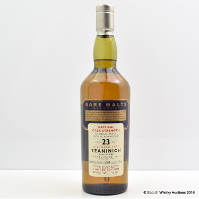 Rare Malts Teaninich 1972 23 Year Old 75cl