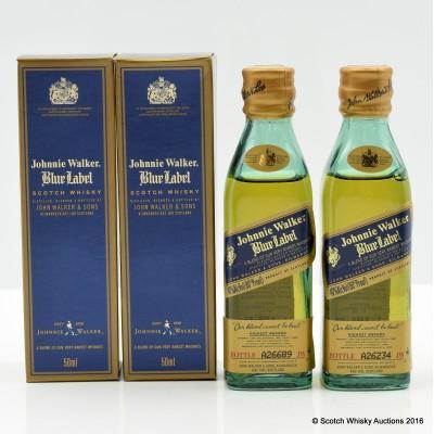 Johnnie Walker Blue Label Minis 2 x 5cl
