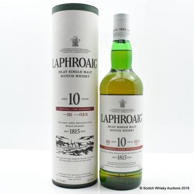 Laphroaig Cask Strength 10 Year Old Batch #6
