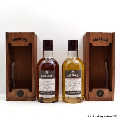 Aberlour Distillery Only Hand Filled Sherry Cask 16 Year Old & Bourbon Cask 15 Year Old
