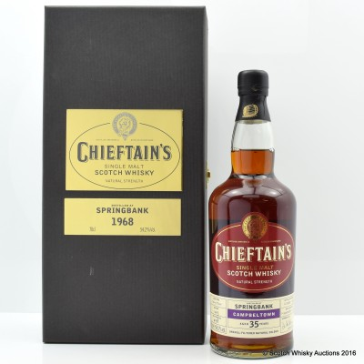 Springbank 1968 35 Year Old Chieftain's