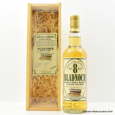 Bladnoch 8 Year Old 1st Edition