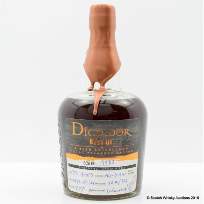 Dictador Best Of 1982 33 Year Old Rum