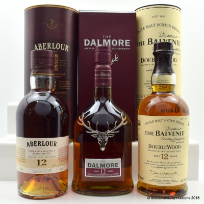 Aberlour 12 Year Old, Dalmore 12 Year Old & Balvenie 12 Year Old Doublewood