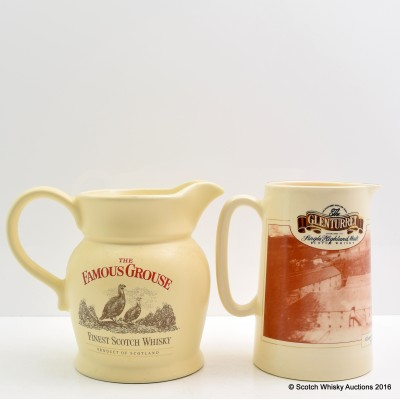 Famous Grouse Wade Water Jug & Glenturret Water Jug