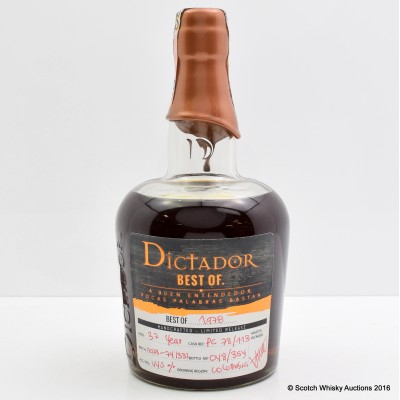 Dictador Best Of 1978 37 Year Old Rum
