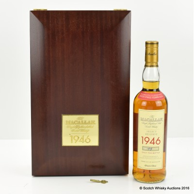 Macallan Select Reserve 1946 52 Year Old With Certificate & Keys